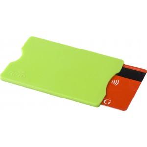 Kártyatartó RFID védelemmel, műanyag